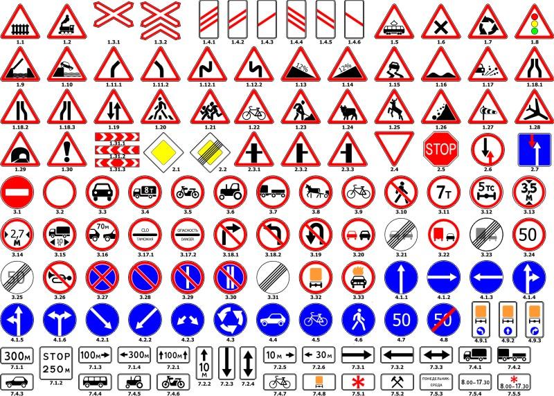 Скачать дорожные знаки картинки для детей.